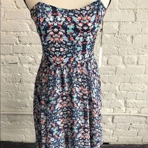 WAYF Strapless Floral Dress NWT